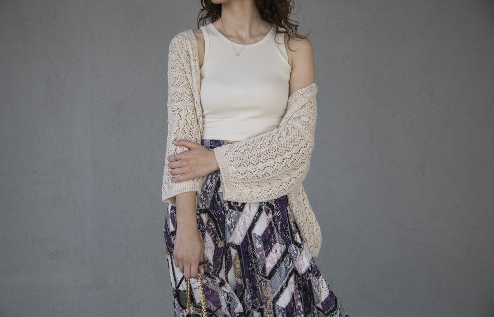 outfit con cardigan